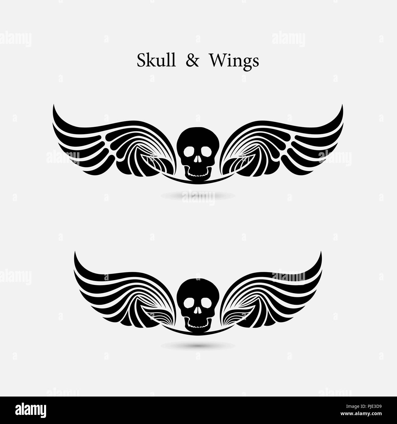 cb40194d5 Skull logo with devil wings logo design template.The Ghost symbol.Halloween  background.