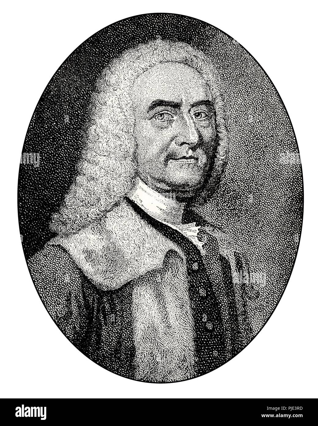 George Drummond, 1688–1766, accountant-general of excise in Scotland - Stock Image