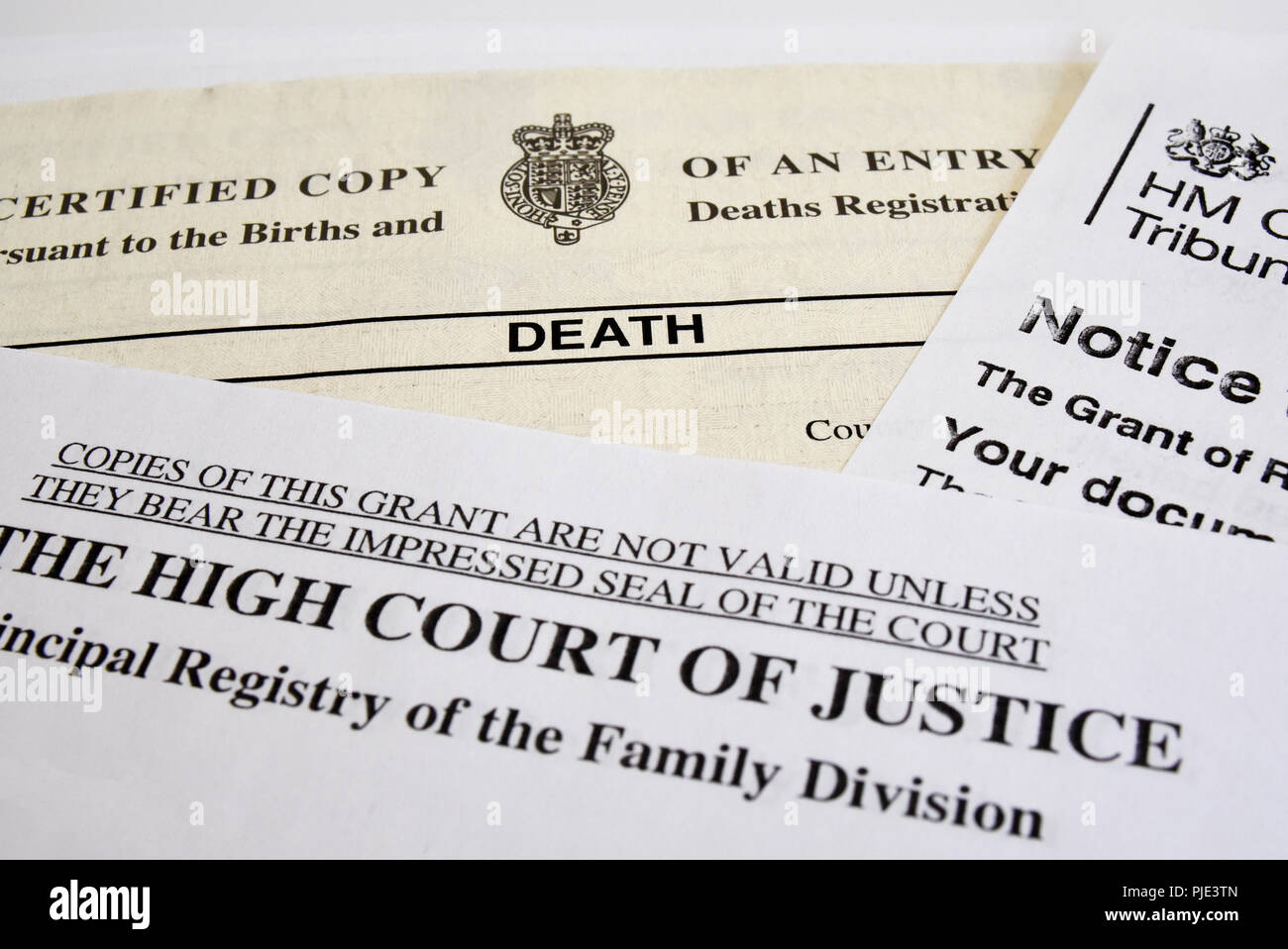 Death Certificate Papers Paperwork Documents The High Court Of