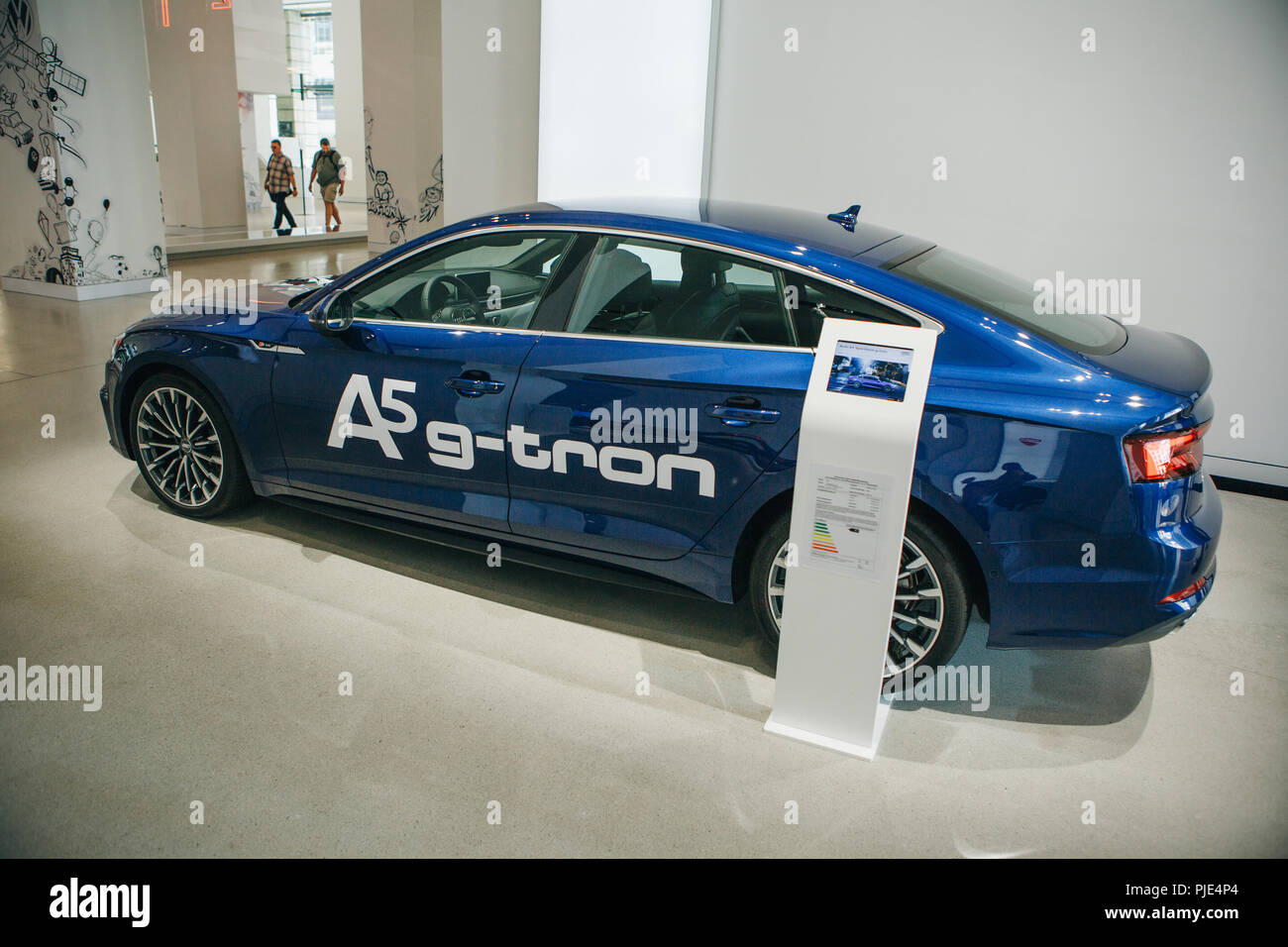 Berlin, August 29, 2018: New car Audi A5 g-tron presented at