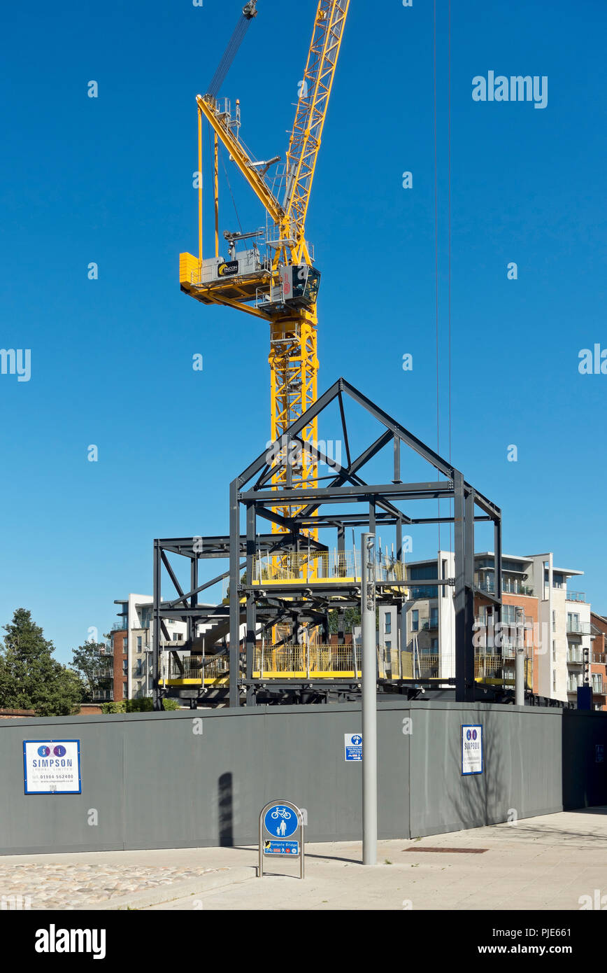 Construction site in the city centre York North Yorkshire England UK United Kingdom GB Great Britain Stock Photo
