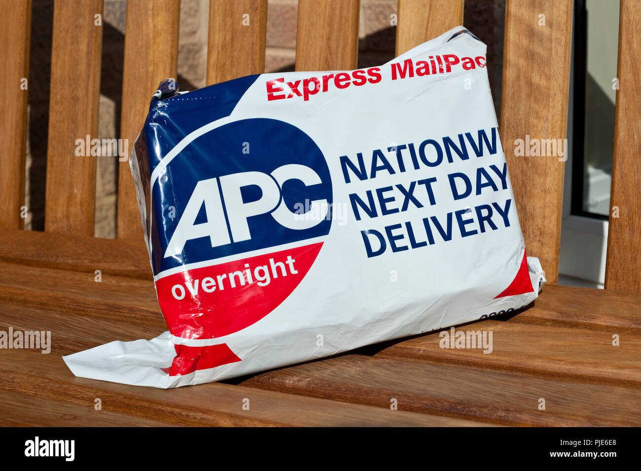 APC overnight express mail parcel England UK United Kingdom GB Great Britain - Stock Image