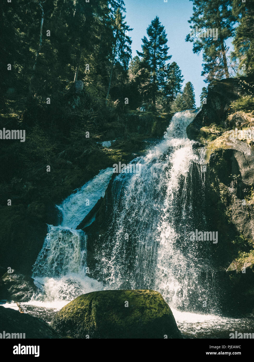 Triberg Waterfall in the Black Forest, Germany - Stock Image