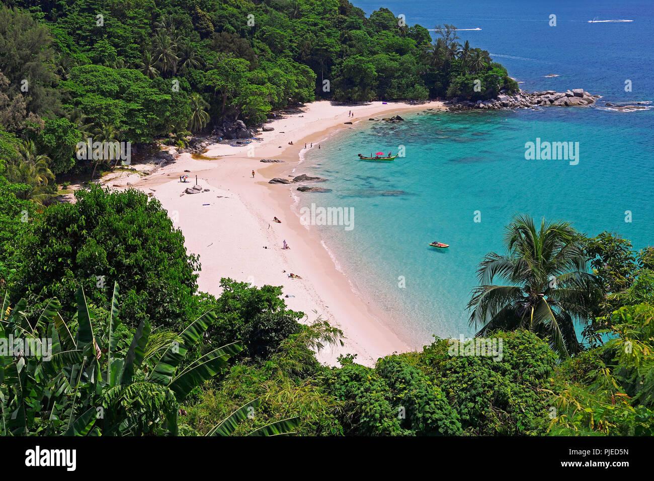 Laem Singh Beach, Phuket, Thailand, Laem Singh Beach - Stock Image