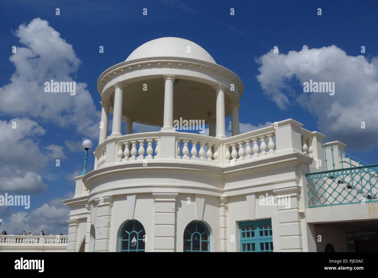 De La Warr Pavilion designed by Erich Mendelsohn and Serge Chermayeff  , Bexhill, UK - Stock Image