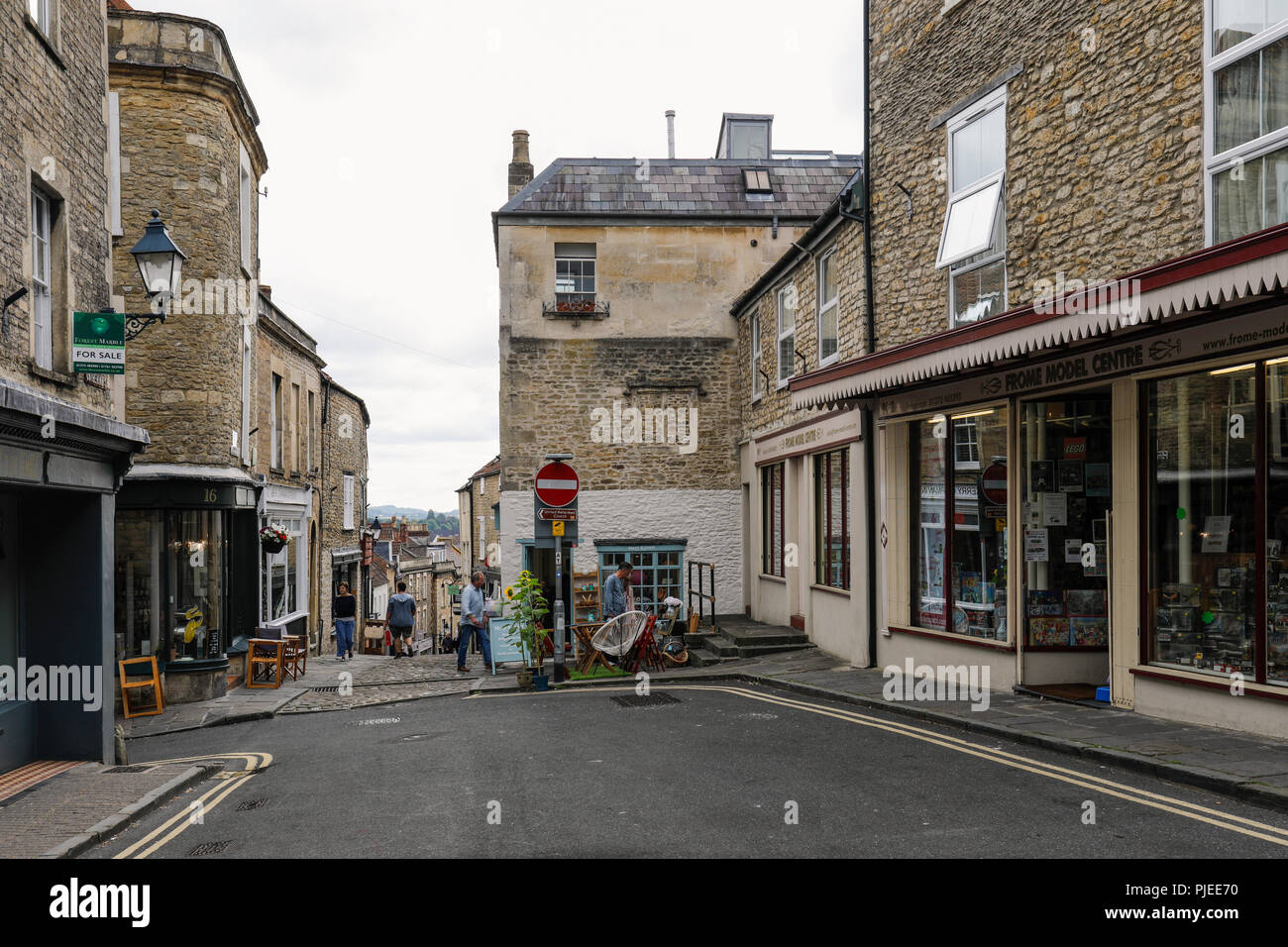 Catherine Hill, Frome, Somerset, England - Stock Image