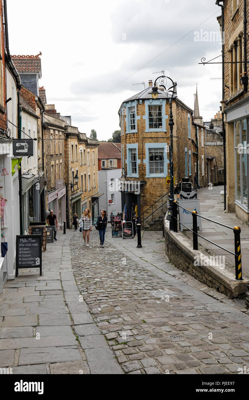 St Catherine Hill, Frome, Somerset, England - Stock Image