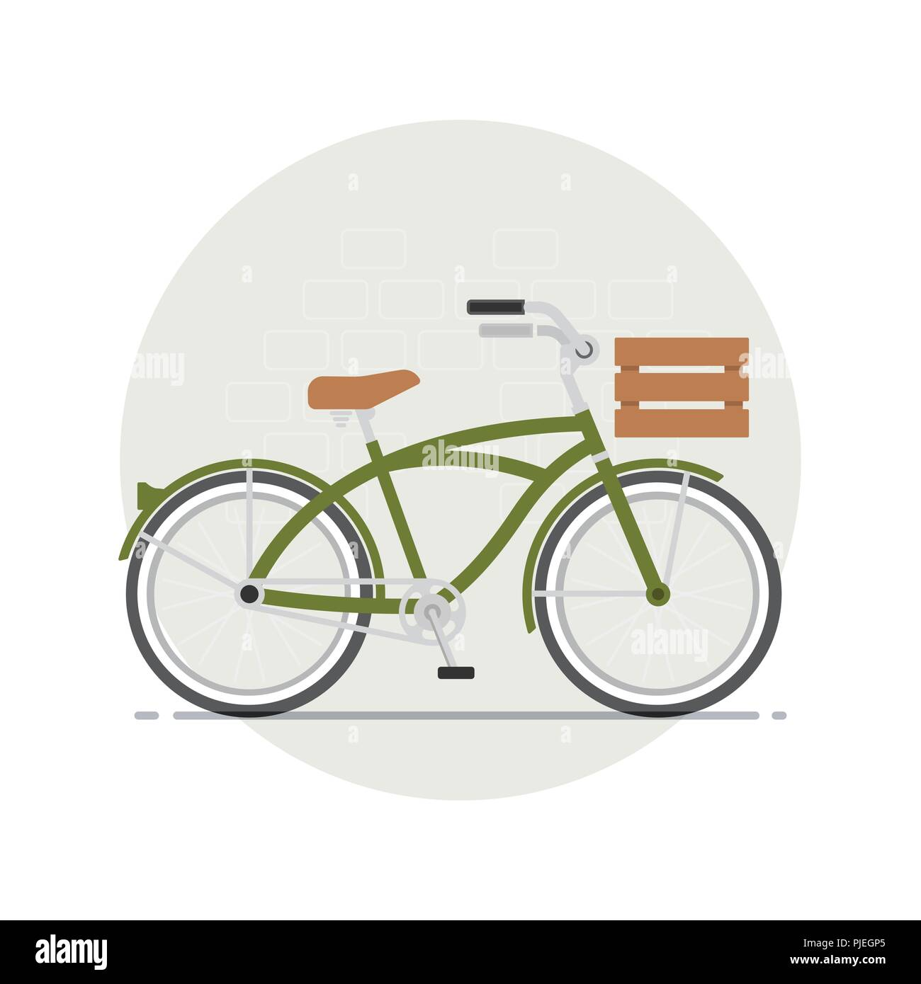 Bicycle with basket - Stock Image