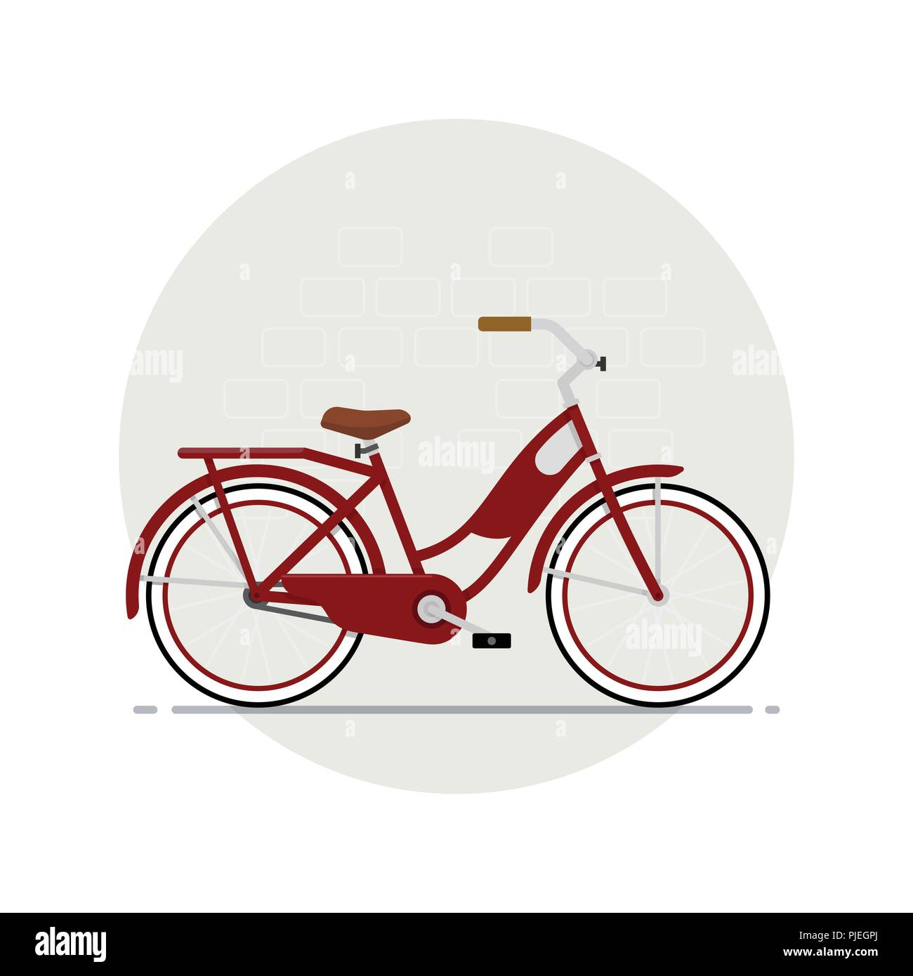 Red bicycle - Stock Image