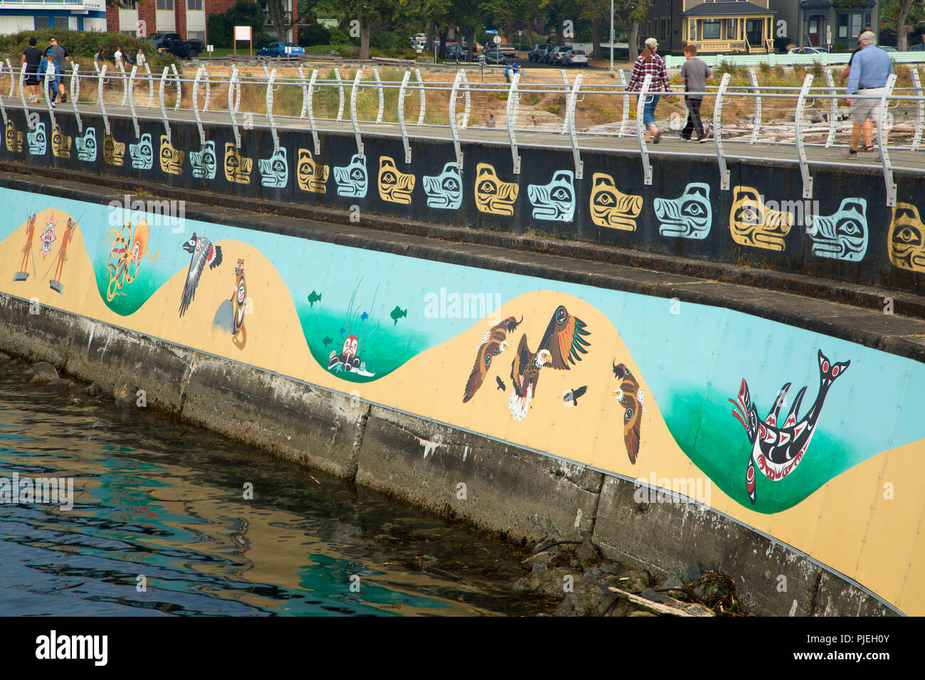The Unity Wall mural on Ogden Point Breakwater, Victoria, British