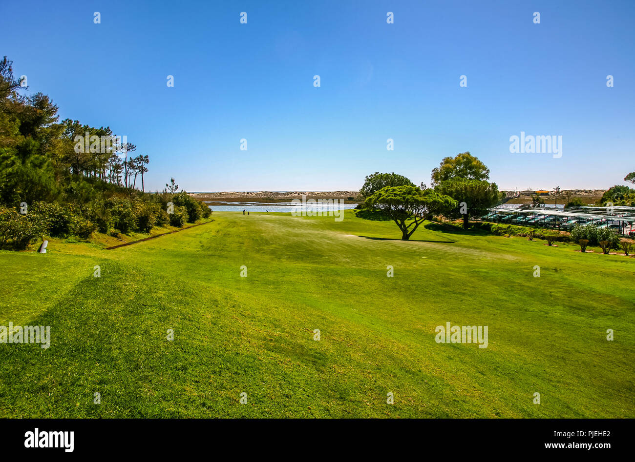 Golf by The Sea - Algarve Portugal - Stock Image