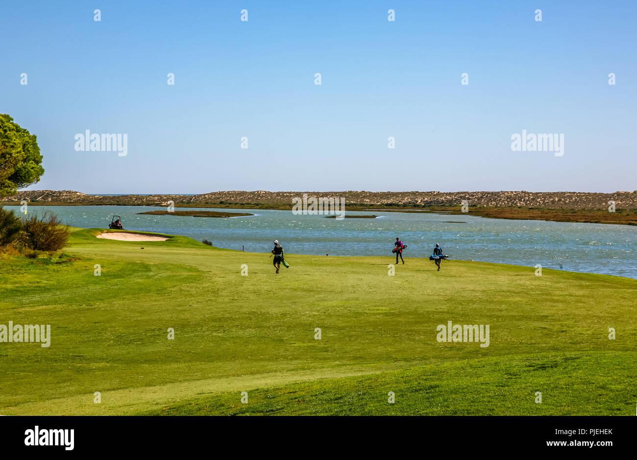 Quinta do Lago Golf Course - Golf Near the Sea Stock Photo