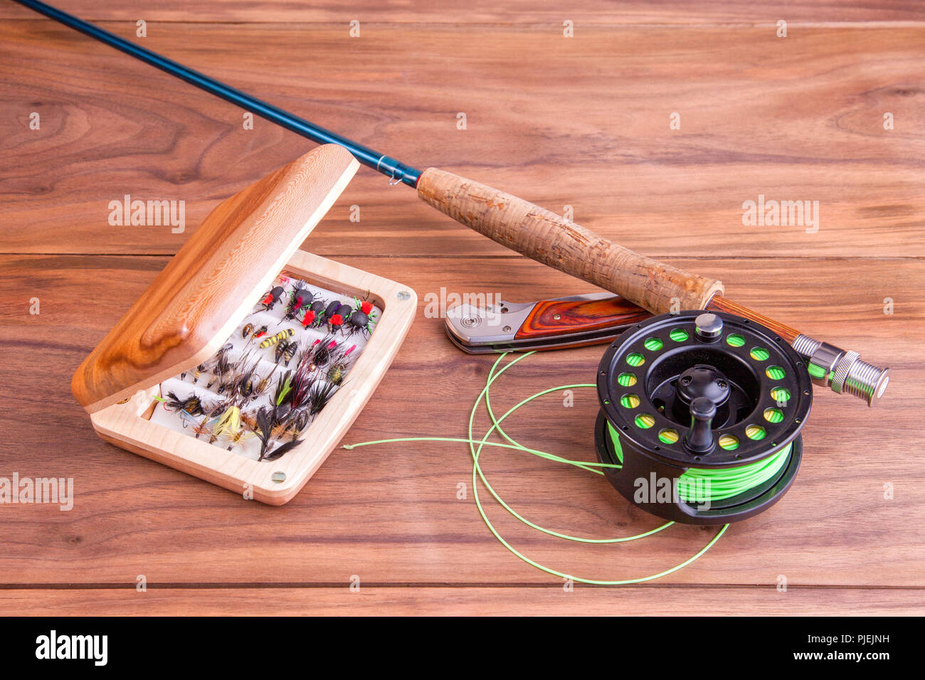 217e127ac054a Old Fishing Flies Stock Photos   Old Fishing Flies Stock Images - Alamy