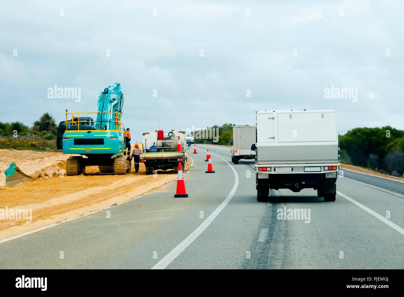 Highway Upgrade Construction Stock Photo