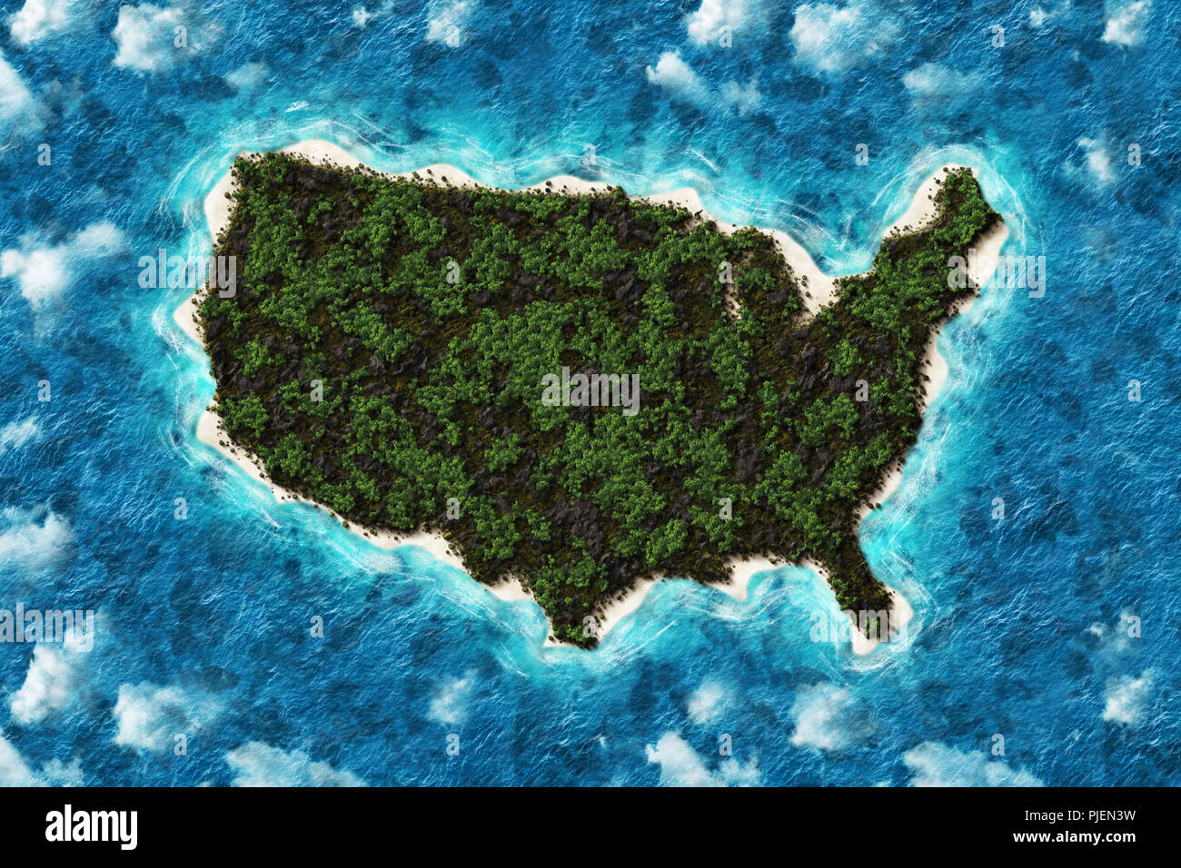 View Map Of United States.Mountains And Forest Map Of United States America In Aerial View