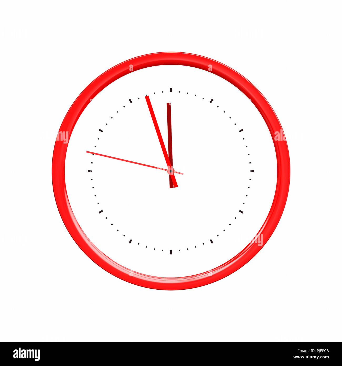 An image of a nice red clock - Stock Image