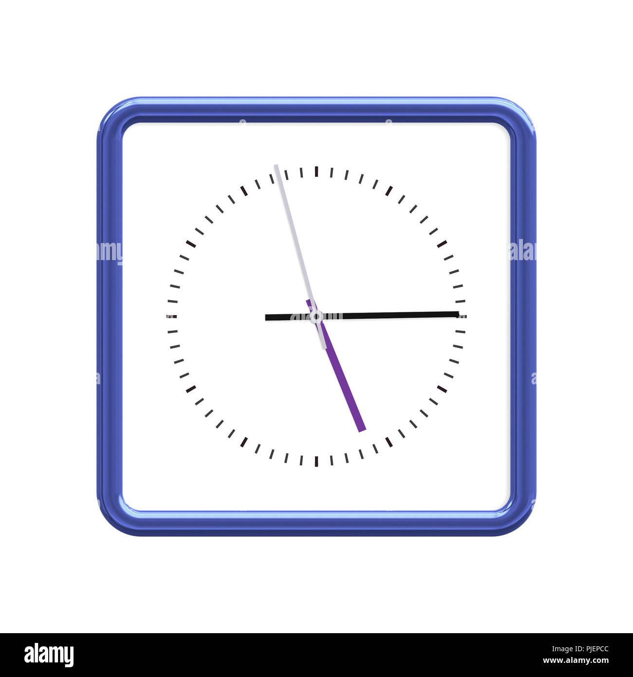 An image of a nice blue clock - Stock Image