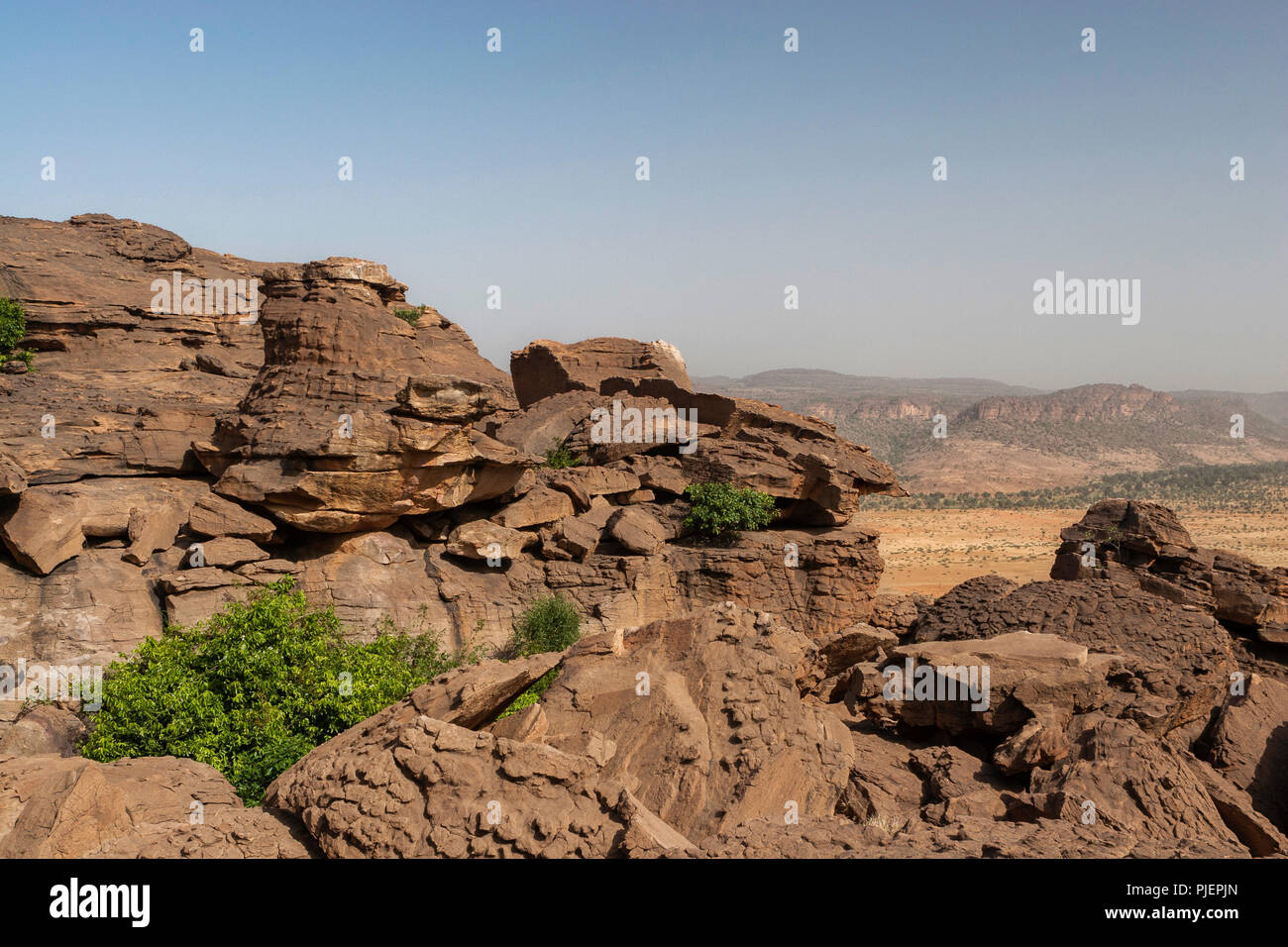 Sahel Landscape With Rocks In Dogon Country Mali Africa Stock Photo Alamy