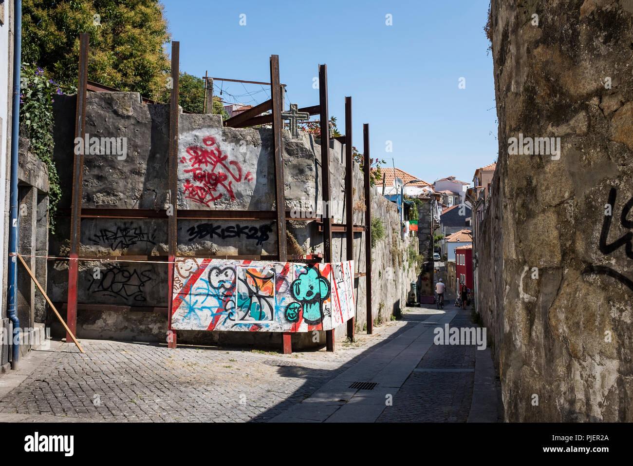 Srreet art, Porto, Portugal. Stock Photo