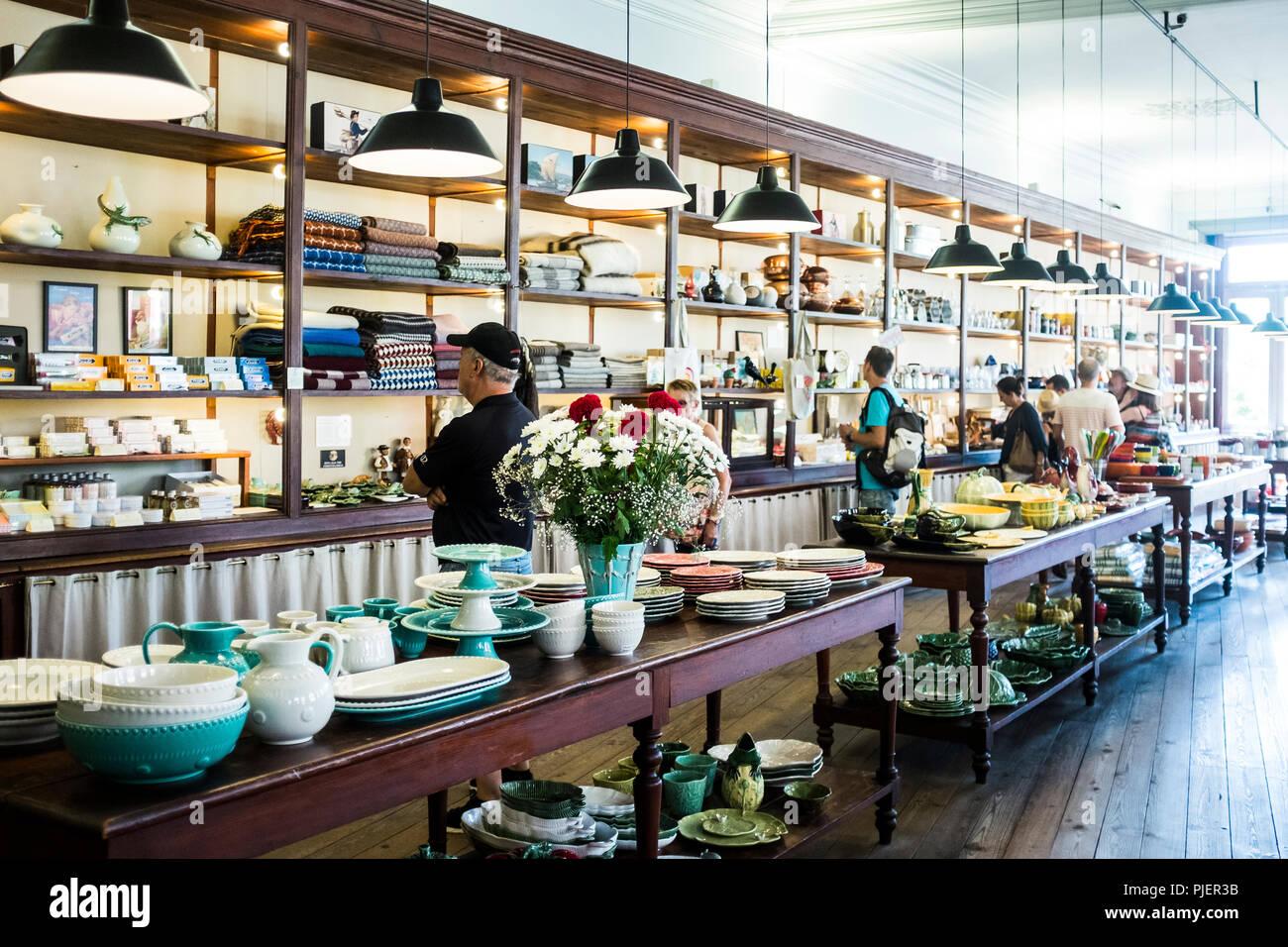 Interior of A Vida Portuguesa, a beautiful store selling Portuguese products, Clérigos, Porto, Portugal. Stock Photo
