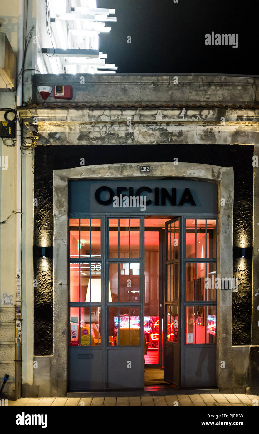 Exterior of Oficina Arte Gastronomia, Porto, Portugal. Stock Photo