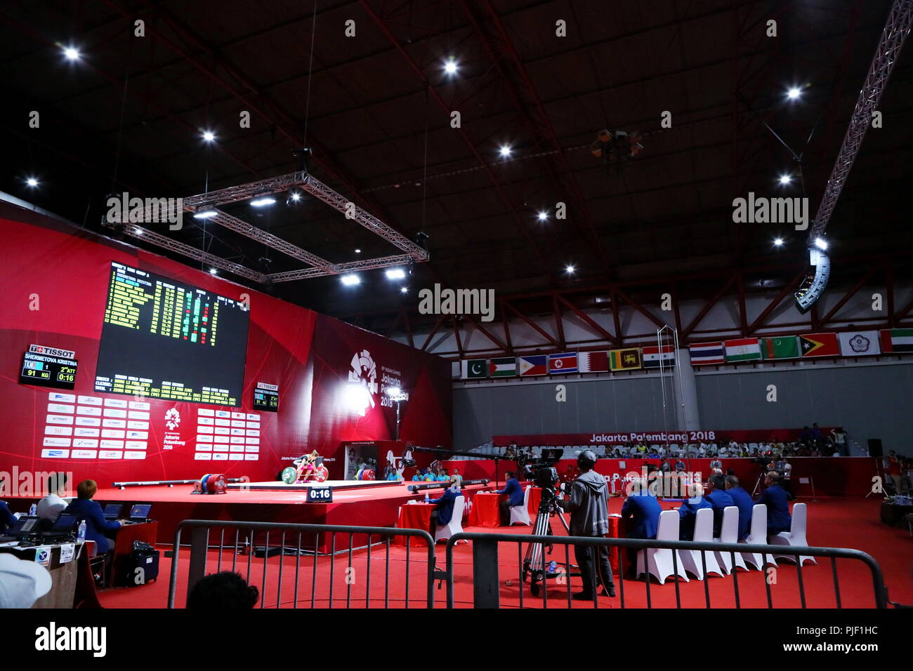 St Aug  General View Weightlifting At Jiexpo Kemayoran Hall A During The  Jakarta Palembang Asian Games In Jakarta Indonesia