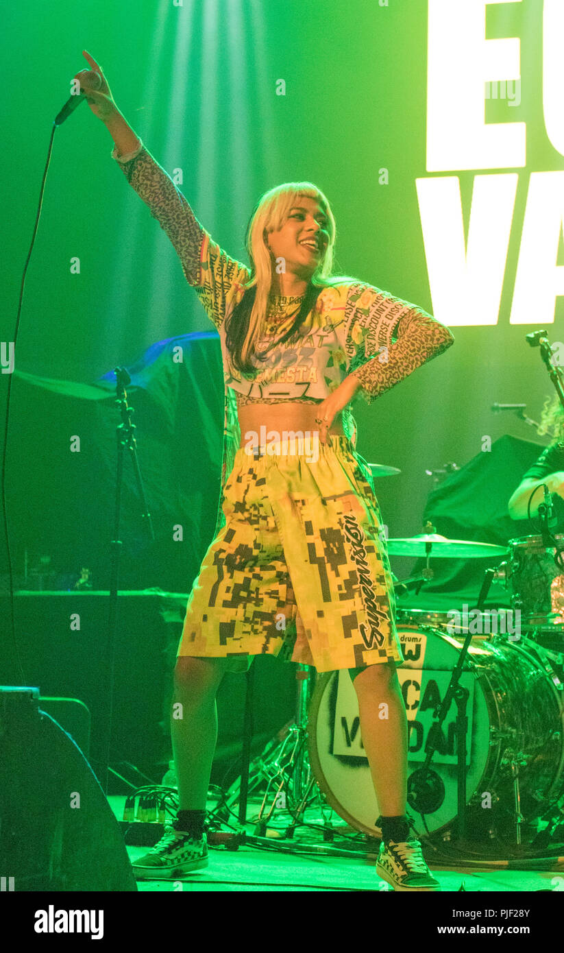 London, UK. 6th September, 2018. 06/9/2018 - Ecca Vandal Supports Incubus tour  at Brixton Academy London UK  -   Mandatory Credit Glamourstock Credit: glamourstock/Alamy Live News Stock Photo