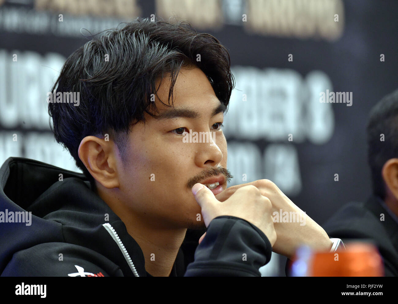 Los Angeles, California, USA. 6th Sep, 2018. Kazuto Ioka (JPN) Boxing : Kazuto Ioka of Japan attends a press conference ahead of his 10R super flyweight bout of SUPERFLY 3 in Los Angeles, California, United States . Credit: AFLO/Alamy Live News Stock Photo