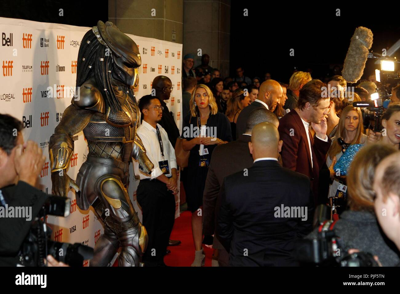 Toronto, Canada.. 6th Sep, 2018. Atmosphere at arrivals for THE PREDATOR Premiere at Toronto International Film Festival 2018, Ryerson Theatre, Toronto, Canada. September 6, 2018. Credit: JA/Everett Collection/Alamy Live News Stock Photo