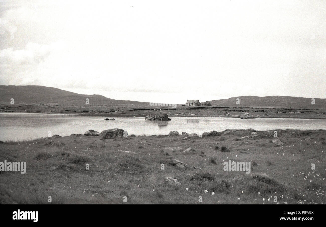 1950s, the rural landscape of the hebrides, western isles, scotland, uk. - Stock Image
