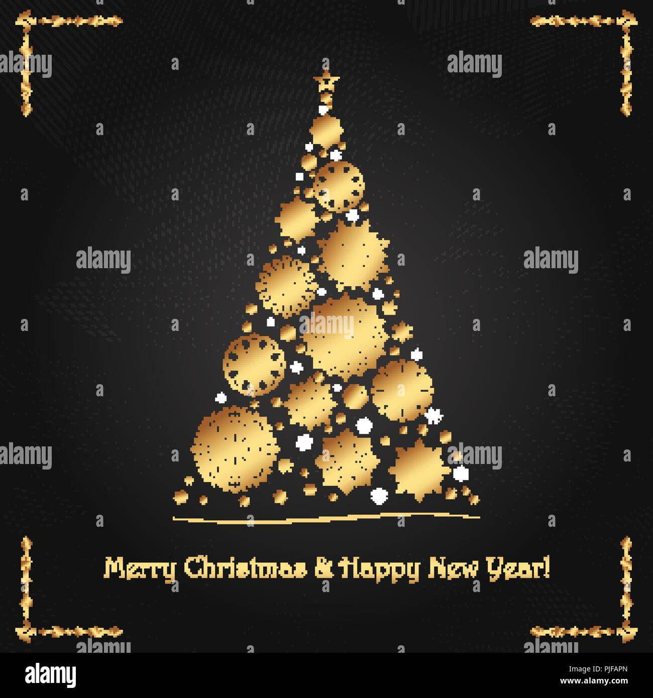 Elegant Luxurious Greeting Card For Christmas And New Year Stock