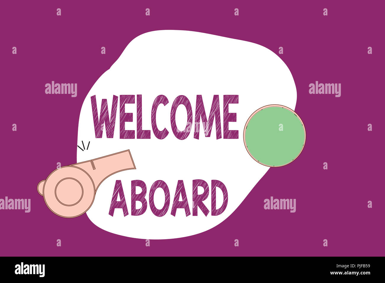 Handwriting Text Writing Welcome Aboard Concept Meaning Expression