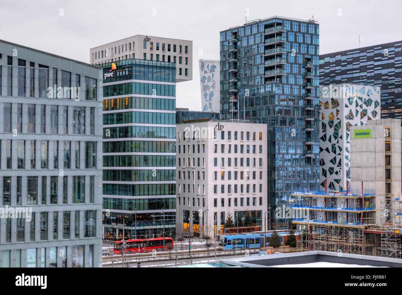 Oslo, Barcode, Norway, Europe - Stock Image