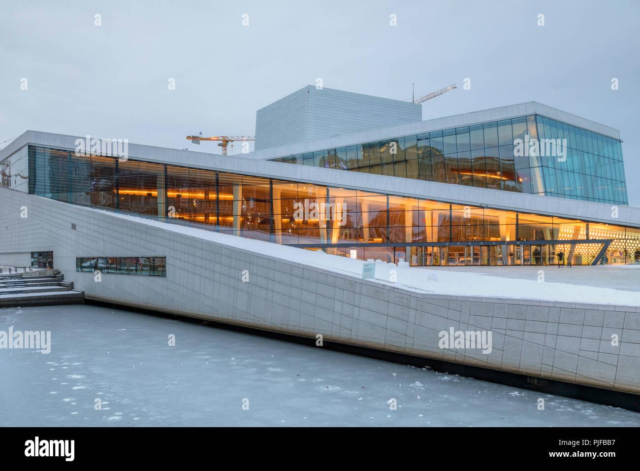 Oslo, Opera House, Norway, Europe - Stock Image