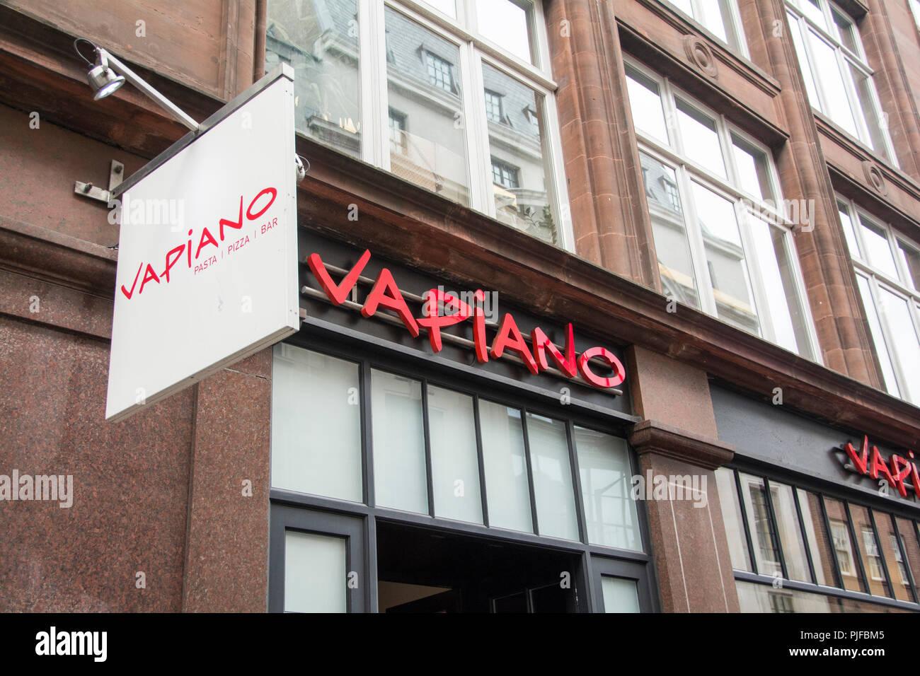 Vapiano Italian restaurant, Wardour Street, Soho, London, W1, - Stock Image
