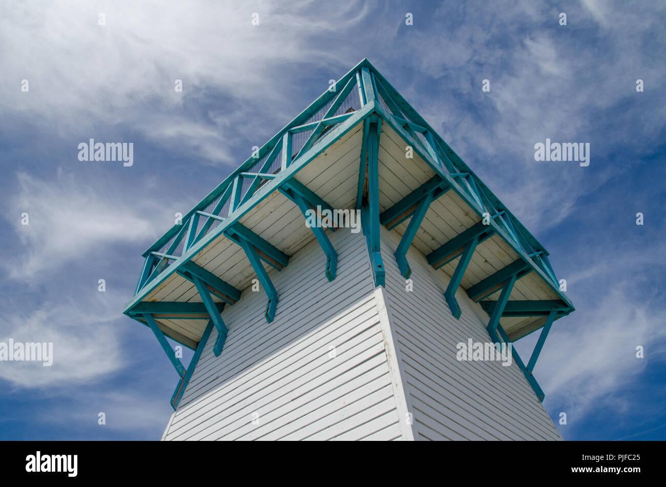 Lighthouse at Summerside seaside market. - Stock Image