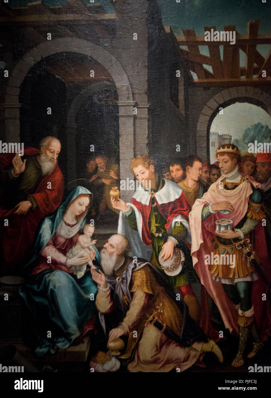 Barthel Bruyn the Elder - Adoration of the Kings - Stock Image