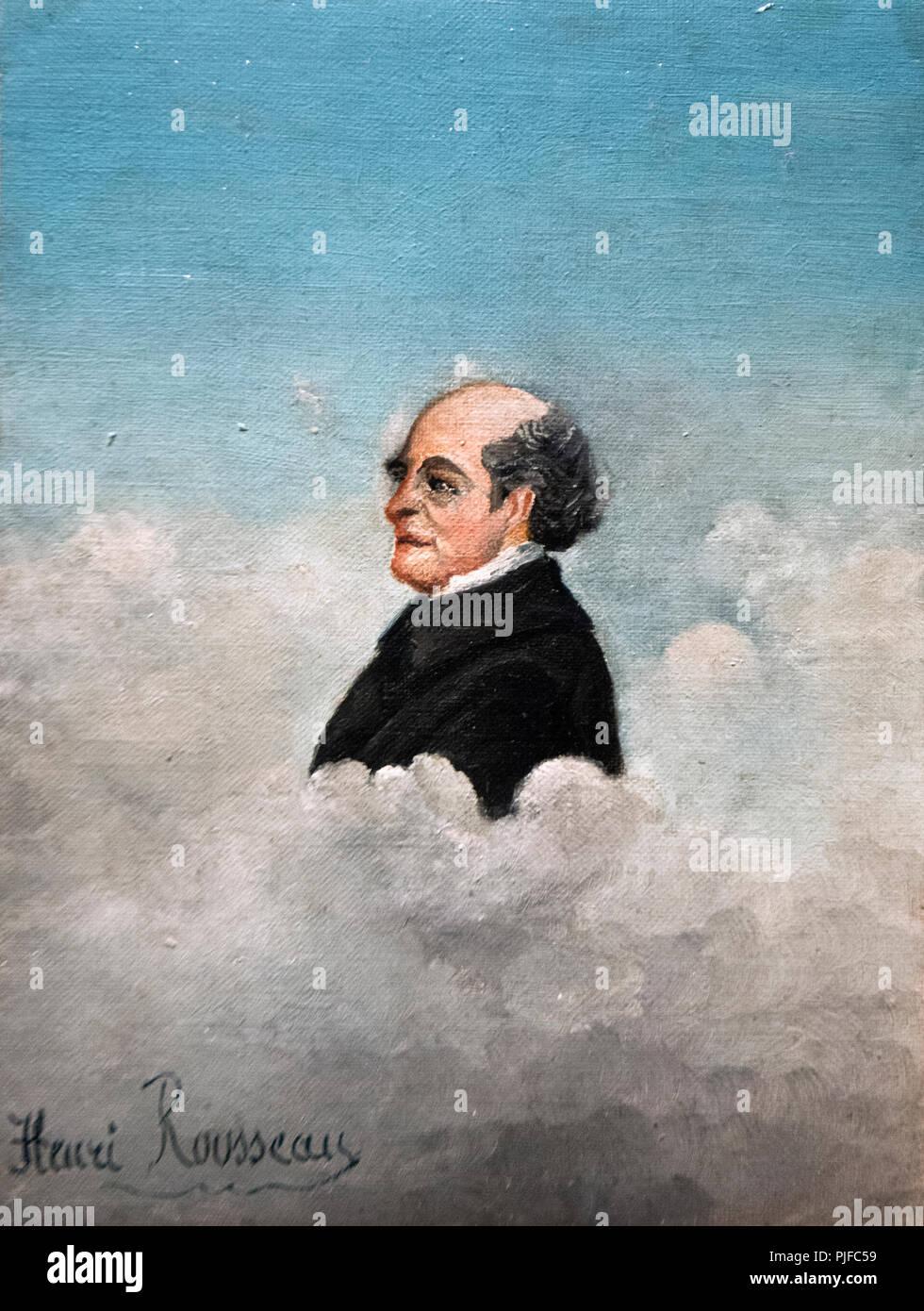 Henri Rousseau - Portrait du pere de lartiste - Portrait of the artist's father - Stock Image