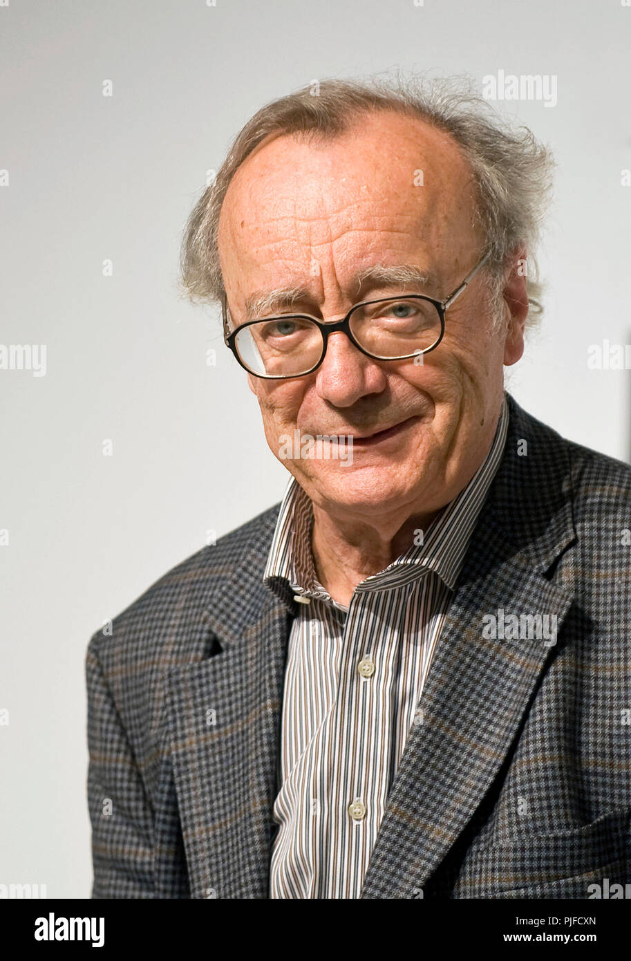 Austrian pianist Alfred Brendel, who resides in the U.K., attends a media event formally announcing the winners of the Praemium Imperiale, a global ar - Stock Image