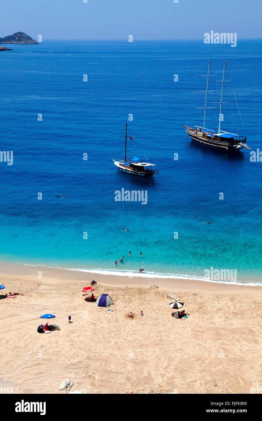 Turkey, province of Antalya, Kaputas beach beetwen Kalkan and Kas Stock Photo