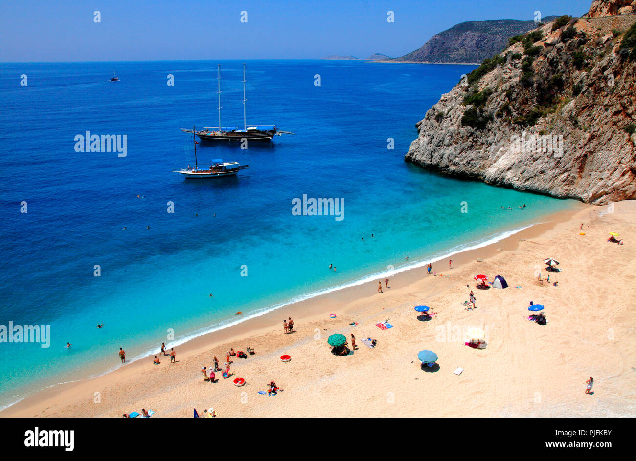 Turkey, province of Antalya, Kaputas beach beetwen Kalkan and Kas Stock Photo