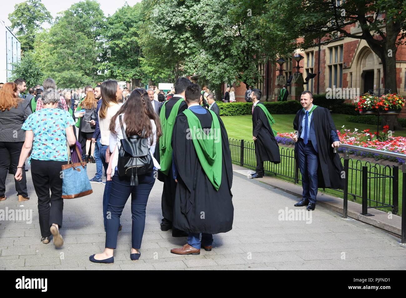 Leeds University Graduation Day Stock Photos Leeds University
