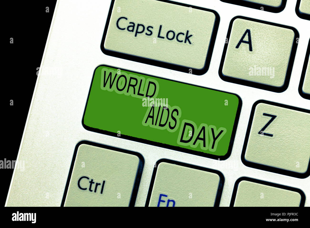 Text sign showing World Aids Day. Conceptual photo 1st December dedicated to raising awareness of the AIDS. - Stock Image