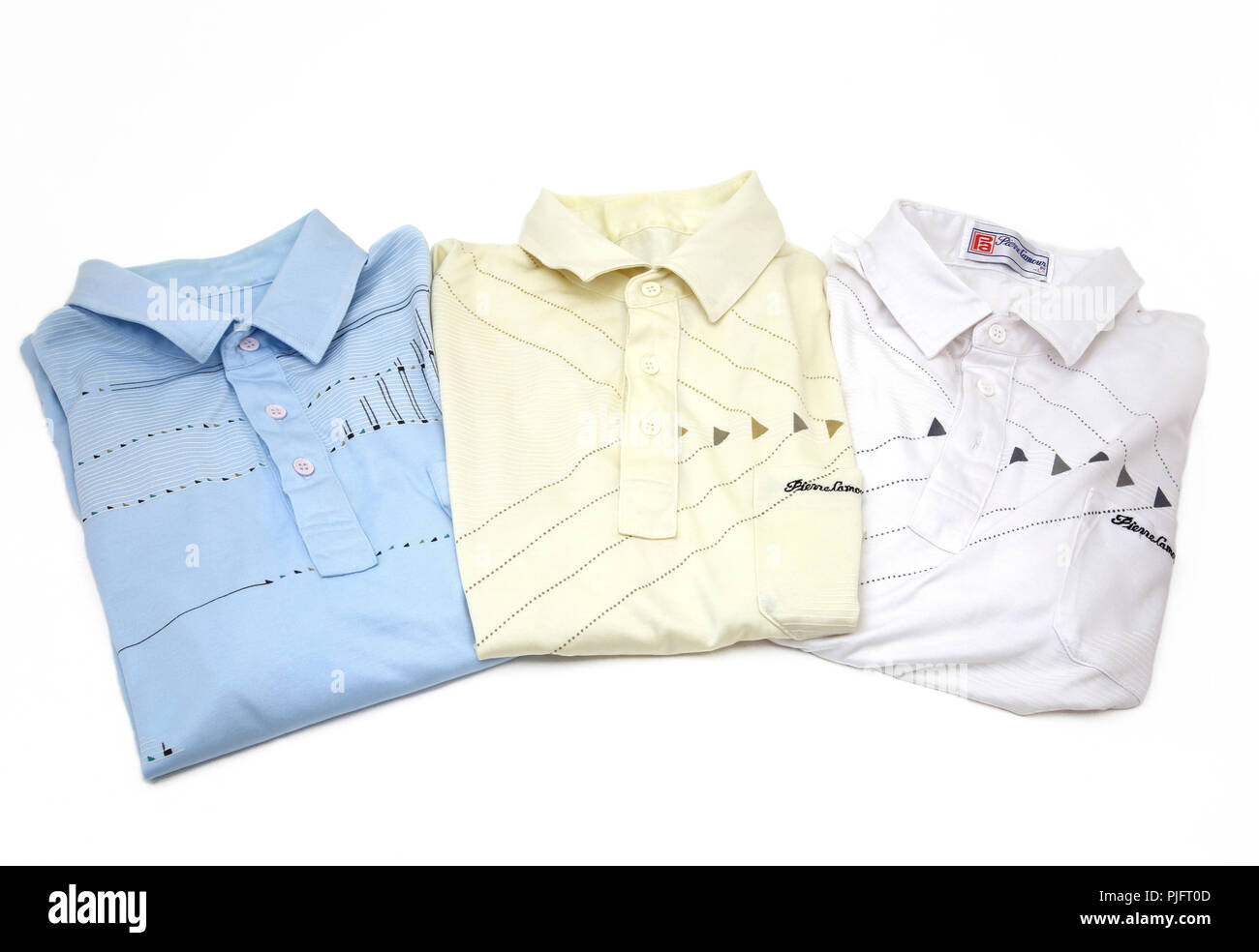 Three Pierre L'amour Shirts - Stock Image