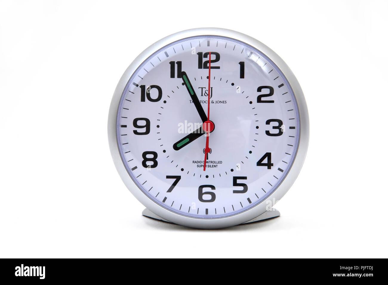 Tavistock & Jones Radio Controlled Alarm Clock time 3.55 - Stock Image