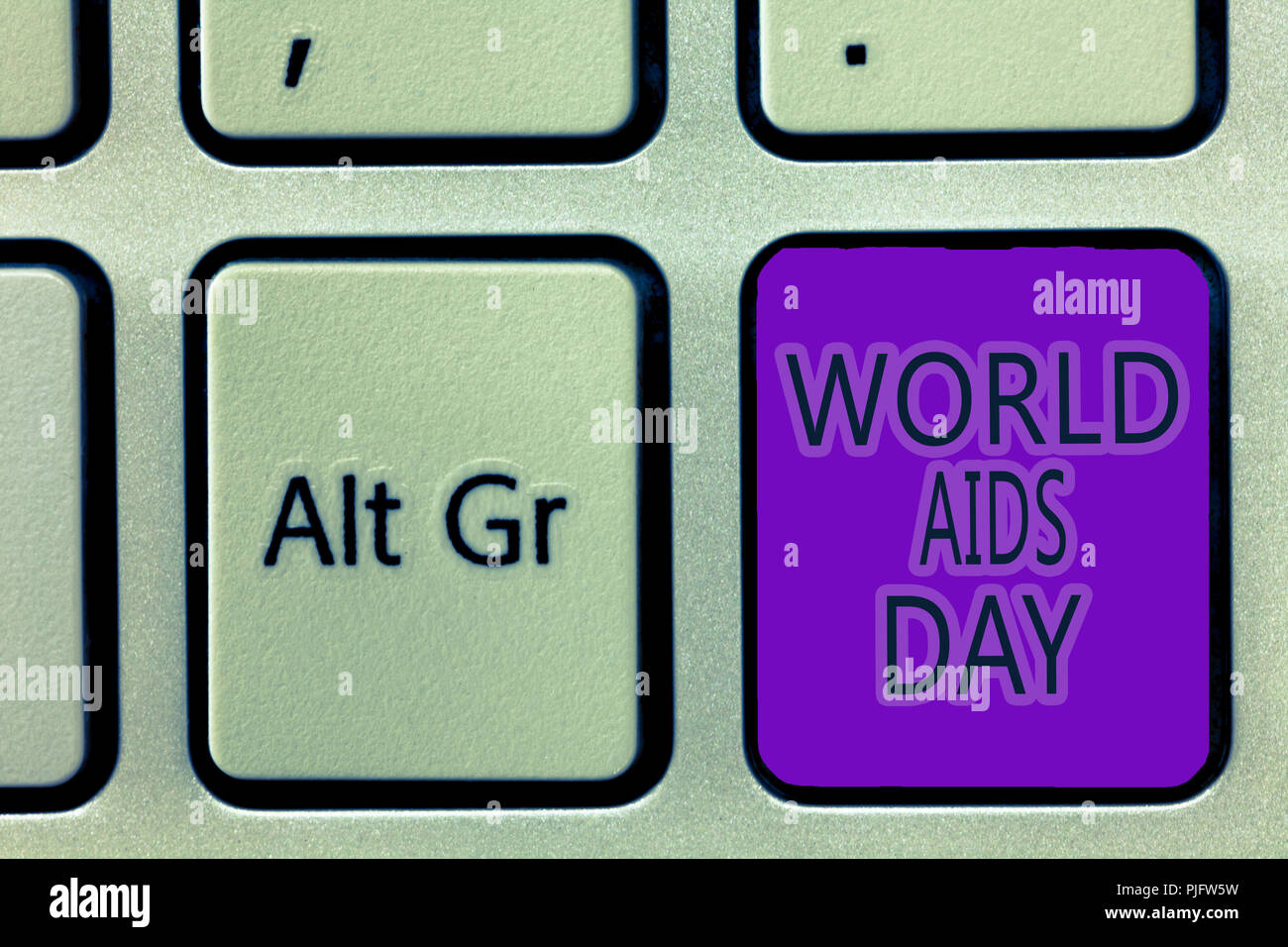 Handwriting text writing World Aids Day. Concept meaning 1st December dedicated to raising awareness of the AIDS. - Stock Image