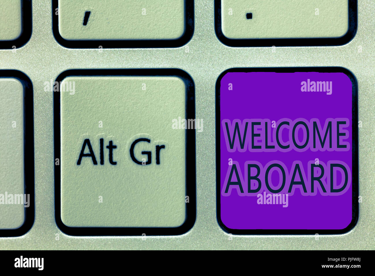 Welcome Aboard Concept Stock Photos Welcome Aboard Concept Stock
