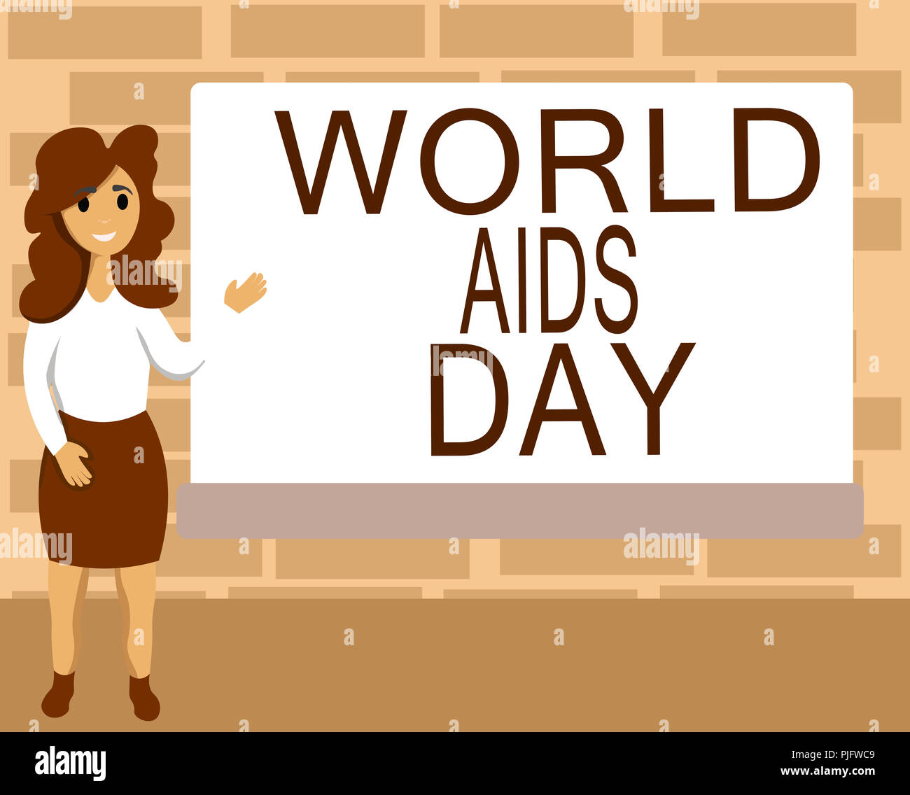 Word writing text World Aids Day. Business concept for 1st December dedicated to raising awareness of the AIDS. - Stock Image
