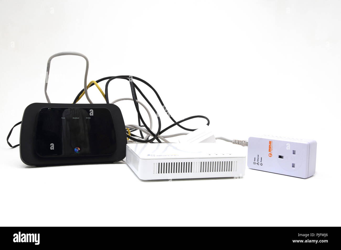 Cable Modem Stock Photos Images Alamy Wiring Ethernet Through House Bt Home Hub And Openreach With Image