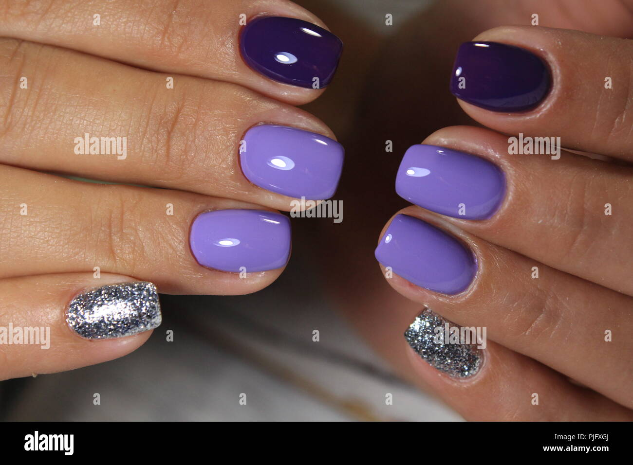 Manicured nails Nail Polish art design. Best! Stock Photo: 217938354 ...